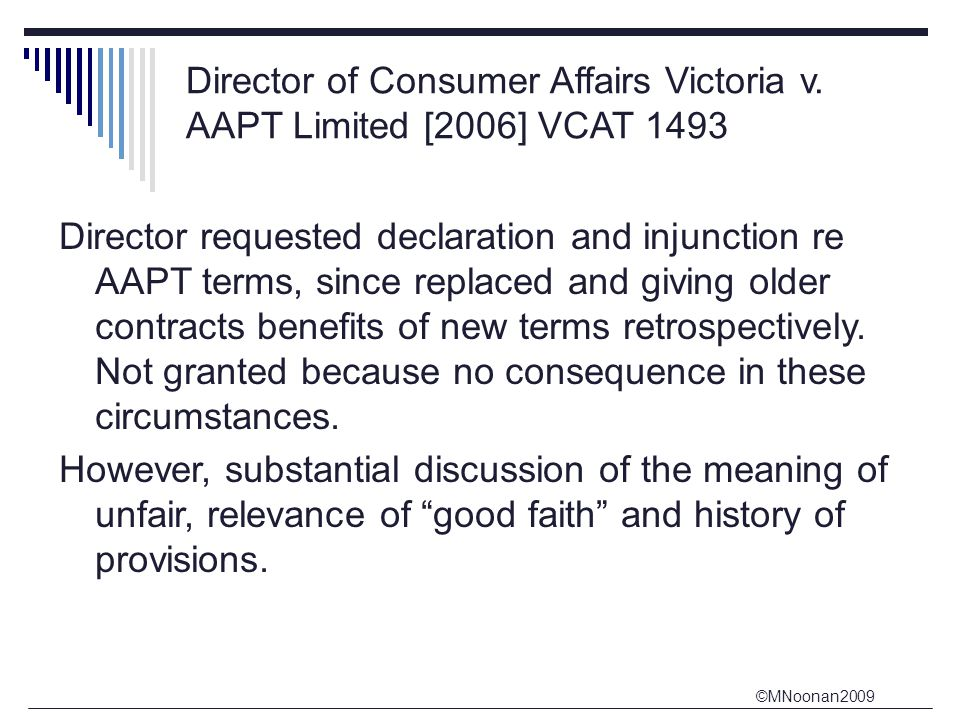 Director of Consumer Affairs Victoria v. AAPT Limited [2006] VCAT 1493
